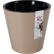 Горшок для цветов Фиджи D230 мм/5 литров (шоколадный)