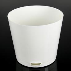 Горшок для цветов Easy Grow D 200 с прикорневым поливом (4 литра) Сливочный