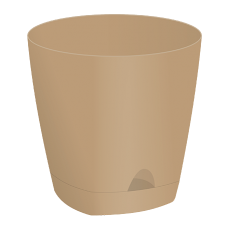 Горшок для цветов AMSTERDAM D 110 с прикорневым поливом (650 мл) Молочный Шоколад
