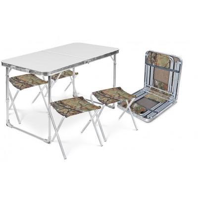 Набор стол+стулья ССТ-К2 металлик-хант