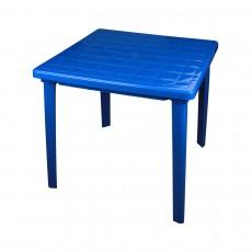 Стол квадратный 800х800х740 мм (синий) М2594