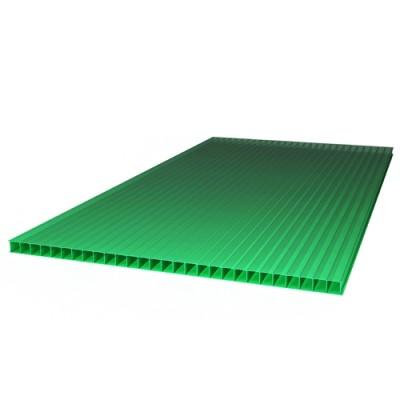 "Сотовый поликарбонат ""ТитанПласт"" 4,0 мм 2100х6000, зелёный"