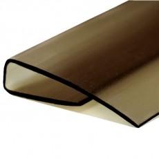 Профиль торцевой UP 4мм L=2,1м бронзовый