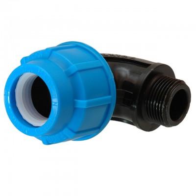 Отвод компрессионный d 20х3/4 наружная резьба для ПЭ