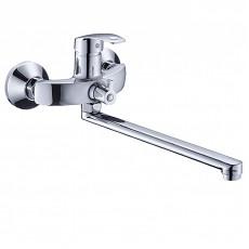 Смеситель для ванны, Potato, с плоским прямым изливом и переключателем для душа, P22212
