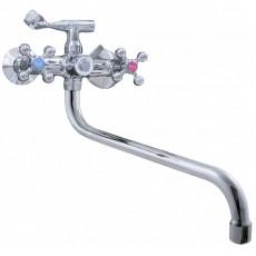 Смеситель для ванны, Potato, двуручный,с длинным изливом, P2761