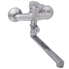 Смеситель для ванны, Potato, с плоским прямым изливом и переключателем для душа, P21214