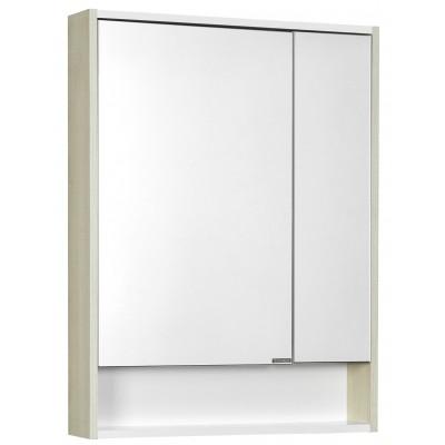 Зеркальный шкаф AQUA-TON  Рико 65 Белый/Ясень фабрик 1A215202RIB90