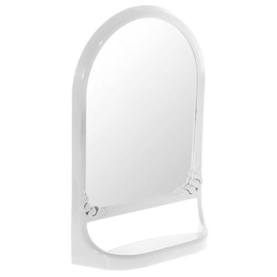 Зеркало с полкой (белый)