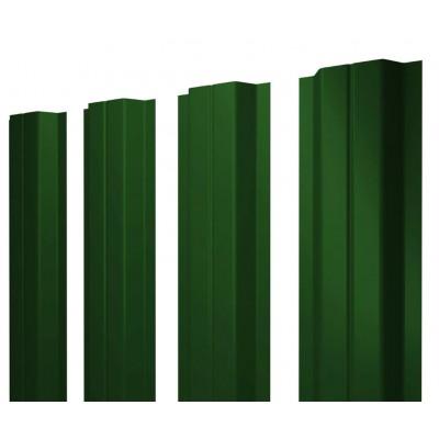 Штакетник М-образный односторонний RAL 6005 Зеленый мох h=1,8 м