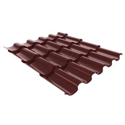 Металлочерепица Монтеррей ПЭ-RAL8017 шоколад, 0,4мм (1,19х1,2м)