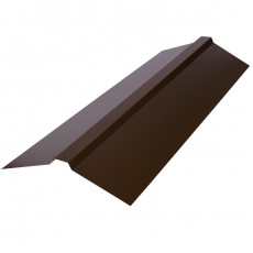 Планка конька плоского 150х150х2000мм, ПЭ0,4мм, RAL8017 (коричневый)
