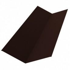 Планка ендовы нижняя 298х298х2000мм, ПЭ0,4мм, RAL8017 (коричневый)