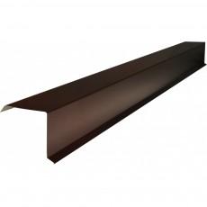 Планка торцевая 95х120х2000мм, ПЭ0,4мм, RAL8017 шоколад