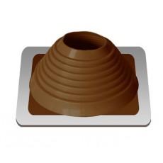 Мастер Флеш крашеный силиконовый коричневый прямой 178-330mm