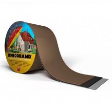 Лента самоклеящаяся герметизирующая NICOBAND коричневая 0,1x3м