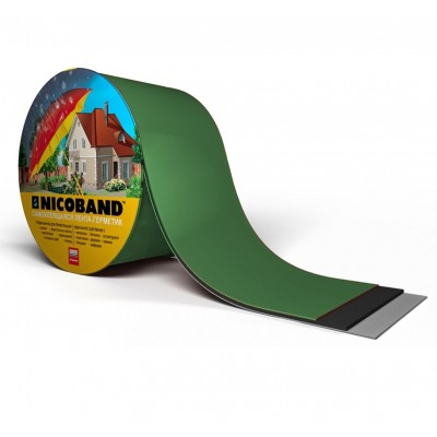 Лента самоклеящаяся герметизирующая NICOBAND зеленая 0,1x3.0 м