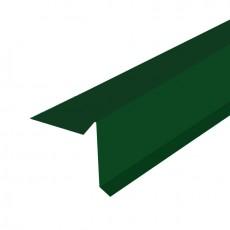 """Планка торцевая """"SHINGLAS"""" PE 70х20х80х15х2000мм Зелёный"""