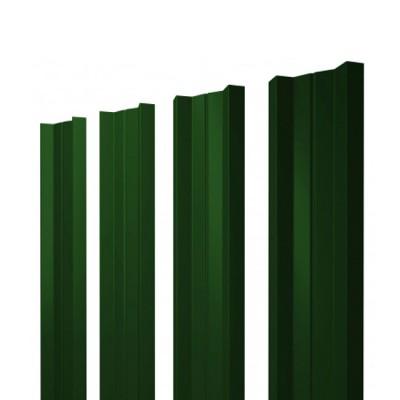 Штакетник М-образный односторонний RAL 6005 зеленый мох h=1,5 м купить в Смоленске