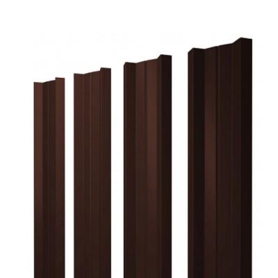 Штакетник М-образный односторонний RAL 8017 шоколад h=1,5 м