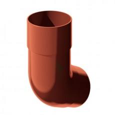 Колено трубы водосточной 135° ТН ПВХ, красный