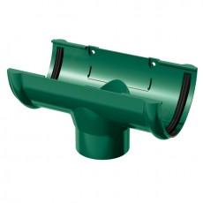 Воронка желоба водосточного ТН ПВХ зелёный