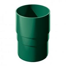 Муфта трубы водосточной ТН ПВХ, зеленый