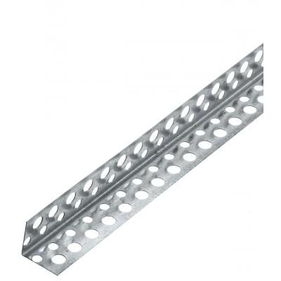 Профиль угловой перфорированный алюминиевый 20/20, L=3м (упак-200шт)
