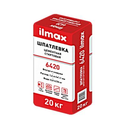 """Шпаклевка цементная св-серая """"Илмакс 6420"""" 20кг /54"""