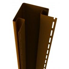 Наружный угол Ю-Пласт, коричневый  дл.3,05м (1 уп=5шт.)