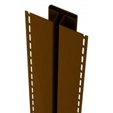 Соединительная планка Ю-Пласт, коричневый, длина 3,05м (1 уп=5шт.)