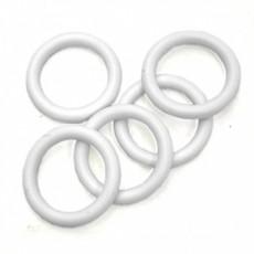 Кольцо пластик Д28 Белое (10 шт. в упаковке)