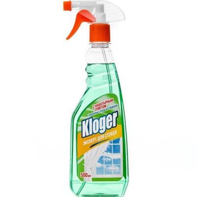 Чистящее средство для стекол с нашатырным спиртом Kloger 500 мл