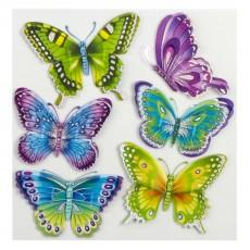 3119 Бабочки разноцветные Стикер CBA