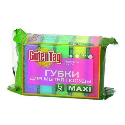 Губка для посуды Guten Tag Maxi 5шт*КЗ