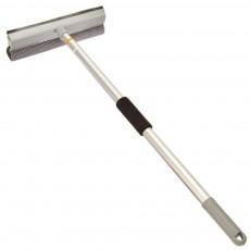 Окномойка VETTA с телескопической ручкой 111 см, с резиновым держателем, серая