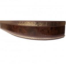 Карниз ПДК-1П (3-х шторный) - 1,75 м-коричневый