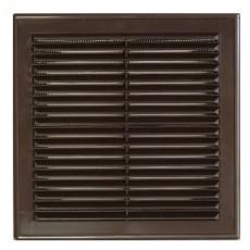 Решетка вентиляционная вытяжная АБС 208х208 коричневая 2121Р