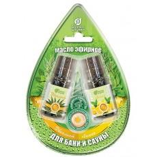 """Набор эфирных масел """"эвкалипт, и лимон"""" 2 масла по 10 мл в блистере в форме капля"""
