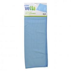 Салфетка из микрофибры VETTA, для сантехники 30х40см, 3 цвета