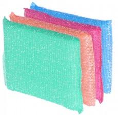 Набор губок VETTA 4шт кухонных, махровых, поролон, 8х12см, 4 цвета