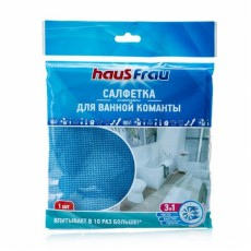 Салфетка из микрофибры для ванной комнаты, повышенной впитываемости Haus Frau 1 шт