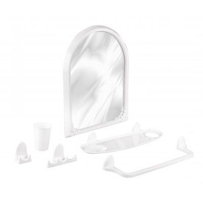 """Набор для ванной комнаты """"Аква"""" №1 (белый)"""