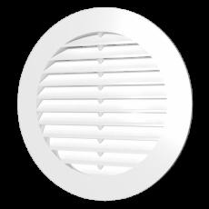 10РК, Решетка круглая D130 вытяжная АБС с фланцем D100
