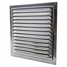 1515МЦ Решетка вентиляционная вытяжная стальная с оцинкованным покрытием 150Х150