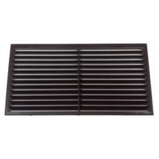 1122С Решетка вентиляционная вытяжная АБС 217х113, коричневая