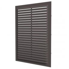 1724С Решетка вентиляционная вытяжная АБС 170х240, коричневая