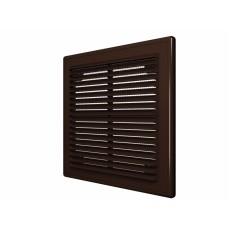 2525Р Решетка вентиляционная вытяжная АБС 249х249, коричневая