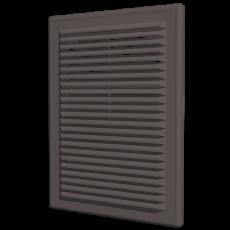 1825Р Решетка вентиляционная вытяжная АБС 183х253, коричневая