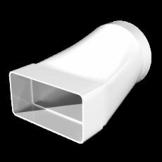 612СП10КП, Соединитель эксцентриковый плоского воздуховода с круглым, (пластик) 60х120/D100